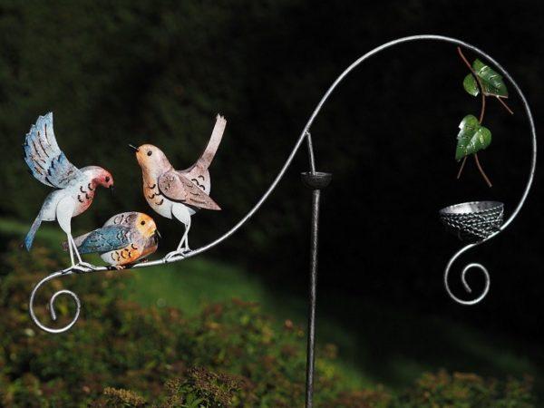 Balancier oiseaux en acier
