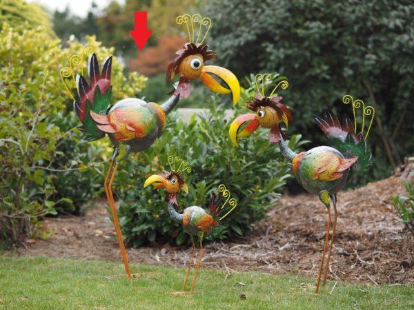 Famille oiseaux en acier