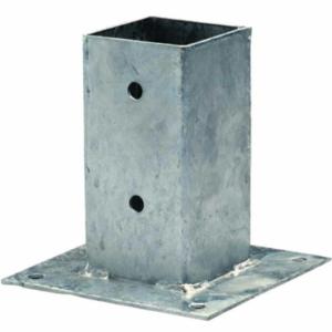 Support de poteau à visser en acier galvanisé