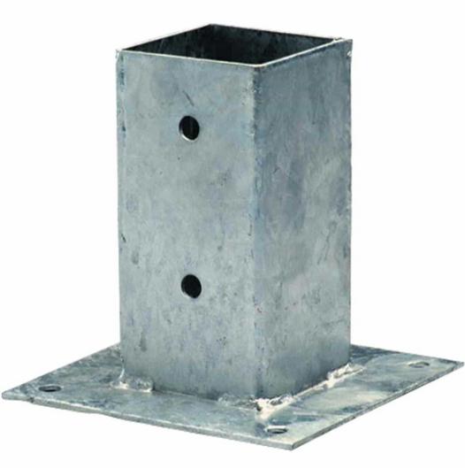 Support de poteau à visser 7x7x15cm acier galvanisé