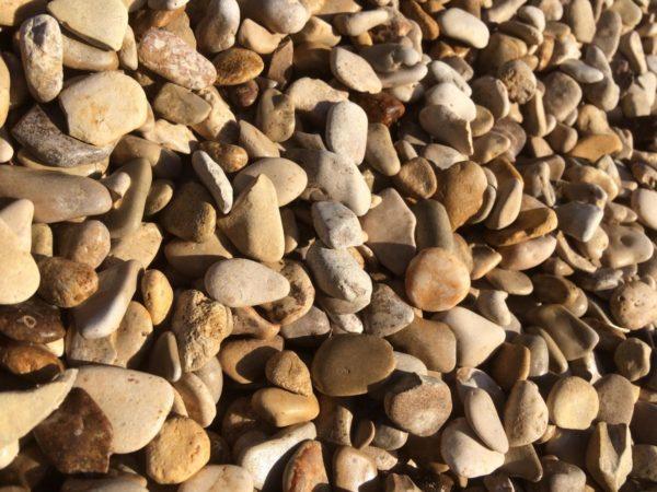 Gravier roulé de marne en vrac