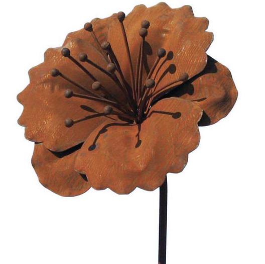 Tuteur fleur Capucine en fer brut