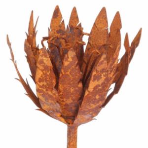 Tuteur fleur Chardon en fer brut
