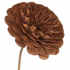 Tuteur fleur Dahlia en fer brut