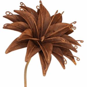 Tuteur fleur Lys en fer brut