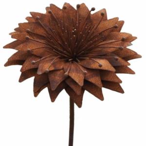 Tuteur fleur Nigelle en fer brut