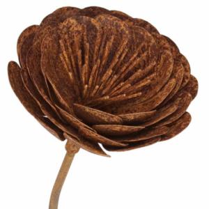 Tuteur fleur Renoncule en fer brut