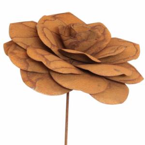Tuteur fleur Rose en fer brut